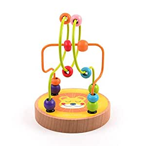 Baby Colorful Wooden Mini Around Beads Early Educational Toy Kids Puzzle Gift Z