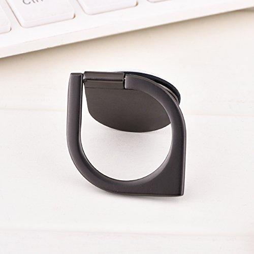 Finger Ring Spinner Halter, 360 ° Rotation Handy Ständer mit großem Fingergriff für iPad iPhone 8/8 Plus 7/7 Plus 6/6 s Plus, Samsung Galaxy, Huawei, Xiaomi, Sony, LG Smartphones und Tablets (Black) Tragbare Auto-dvd-spieler-fall