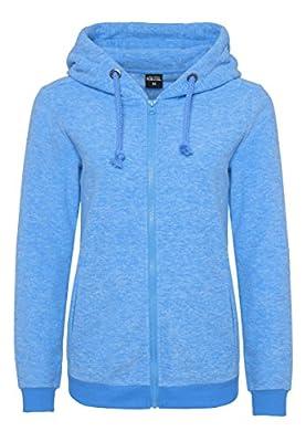 SUBLEVEL Damen Micro-Fleecejacke | Kapuzenpulli | Kuschelig Warmer Fleece-Hoodie in Blau & Rot von Sublevel auf Outdoor Shop