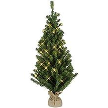 künstlicher Weihnachtsbaum mit 40 LED warmweiß Batteriebetrieb /& Timer Outdoor