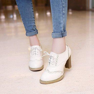 Les talons des femmes Printemps Été Automne Hiver Chaussures Club Bureau PU & Carrière Partie & Robe de Soirée Talon g-rose blanc beige Beige