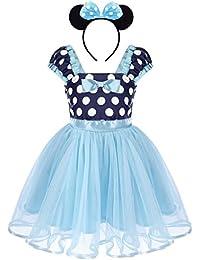 Bebé Niña Vestido de Fiesta Princesa Disfraces Tutú Ballet Lunares Fantasía Vestid Carnaval Bautizo Cumpleaños Baile