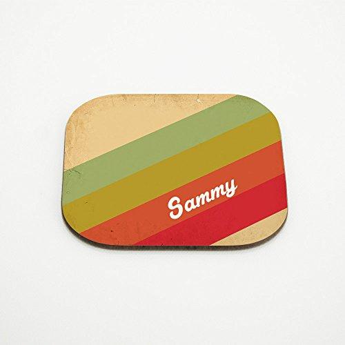 Untersetzer mit Namen Sammy und schönem Vintage-Motiv