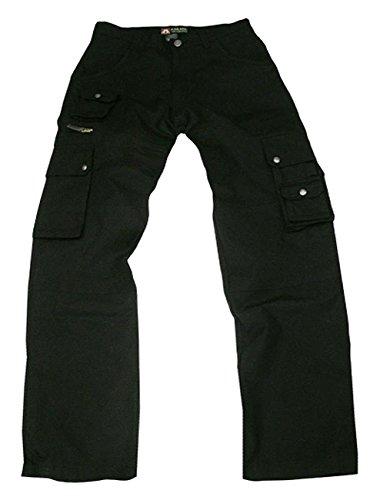 robuste Outdoor Herren Cargo Hose mit vielen Taschen und Extras in braun, khaki, blau und schwarz (Gesteppte Baumwolle Geldbörse)
