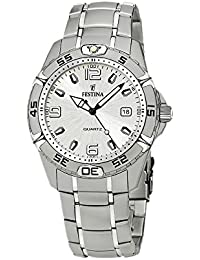 FESTINA Sport 16170/1 - Reloj de caballero de cuarzo, correa de acero inoxidable color plata