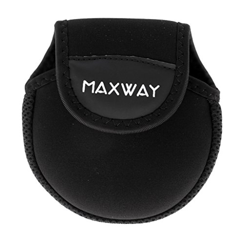 Sharplace 1 Stück Neopren Schutz Tasche für Angeln Ruten Spule Beutel - Schwarz - M