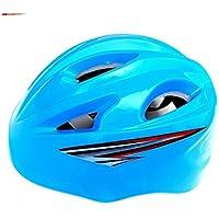 Flowerrs Casco Scooter Casco de Bicicleta de Carretera de Seguridad para niños Casco de Bicicleta de Carretera Ajustable para Ciclismo (Azul) Skate Helmet