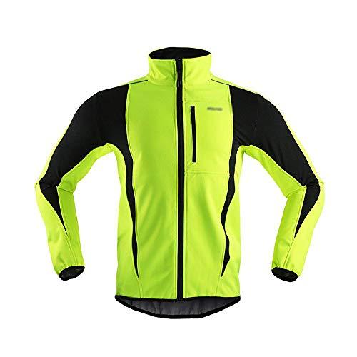 MASK Winter-warme Thermal Cycling Lange Hülsen-Jacke Fahrrad-Kleidung Windundurchlässiges Jersey MTB Mountain Bike Jacke Green-XXXL