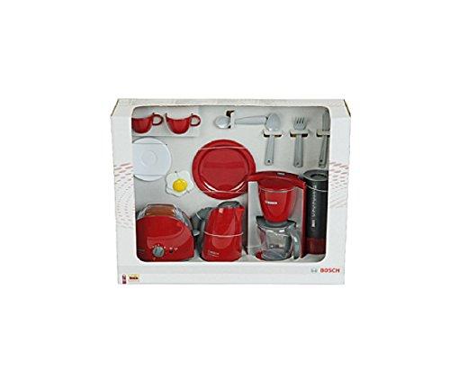 Preisvergleich Produktbild Kinder Kaffeemaschine / Frühstückset BOSCH, mit Wasserkocher, Toaster und Kaffeemaschine, Spielzeug mit realistischen Funktionen, Originalgetreue Nachbildung / ideal für die Spielküche