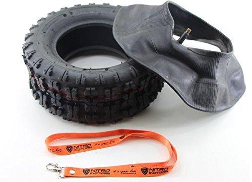 Nitro Motors Reifen mit Schlauch für Quads / Rasentraktor 13x5.00-6 Tyre Pocket Dirt Bike Quad + Gratis Schlüsselanhänger Lanyard