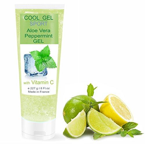 COOL GEL Gel Idratante Freddo di Aloe Vera e Minta Rinfrescante 227 ml