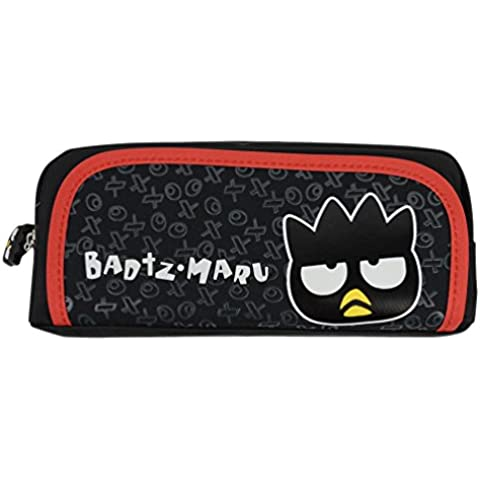 Hello Kitty Durable cremallera bolso del lápiz # KT9605 (Negro)
