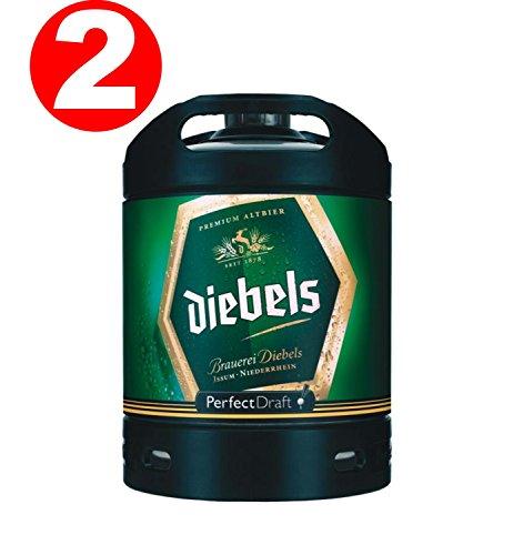 2 x Diebels Alt Perfect Draft Fass 6 Liter 4,9 % vol.