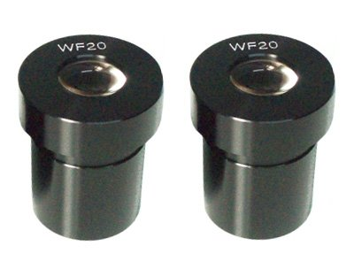 Juego de 2 oculares WF 20x para microscopio (diámetro 23.2)
