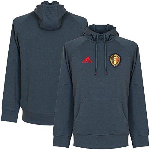 adidas Herren RBFA Belgien Hoodie, Boonix/Scarle/Black, M