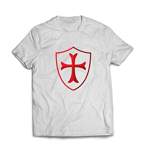 hirt Die Tempelritter Schild, Rotes Kreuz, Christlicher Ritterorden (Medium Weiß Mehrfarben) ()