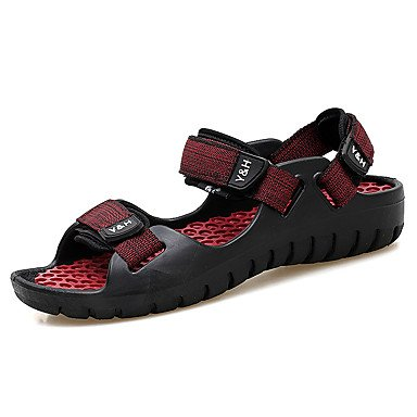 Herren Sandalen Frühling Sommer Komfort PUR Outdoor Casual Magic Tape Schwarz/Gelb Braun Schwarz/Rot Black/Red