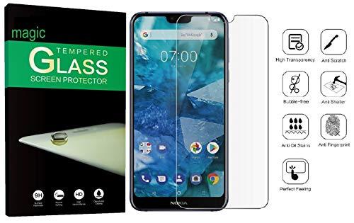 Nokia 8.1 Tempered Glass Original Screen Protector 2.5D Curved Pack of 1 Nokia 8.1 Screen Protector by Magic
