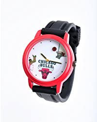 NBA Chicago Bulls Shooting Ball Red Watch and Black Band