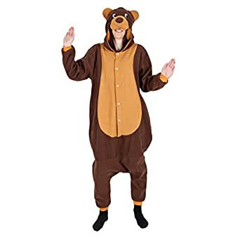 Teddy Bear One Piece Adult Animal Outfits for Ladies Mens Fancy Dress Costumes Charity Events Entertainers