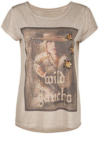 Grace -  T-shirt - Basic - Maniche corte  - Donna Cemento L