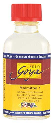 Kreul 310-50ML - Solo Goya Malmittel 1, trocknungsbeschleunigend, im 50 ml Glas, harzreicher Trocknungsbeschleuniger, zum Verdünnen von Künstler-Ölfarben und für eine schnelle Durchtrocknung