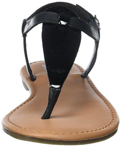 Tommy Hilfiger S1385usy 1c2, Sandales Bout Ouvert Femme Noir (Black 990)