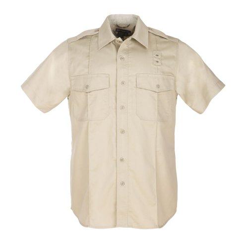5.11Tactical Herren # 71183PDU Short Sleeve Twill Klasse A Shirt, Herren, Silver Tan (Tan Shirt Twill)