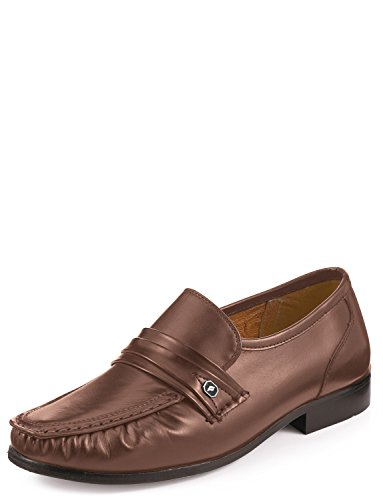 Milan Cuir Smart Casual Mocassins Marron