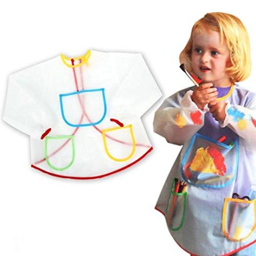 Baby Lätzchen mit, Y56, wasserdicht, mit Motiv verstellbar, PEVA Babylätzchen mit lebensmittelechtem Material für Kinder Kleinkinder Kinder Lunch-Lätzchen mit Smock Saliva Füttern Lätzchen