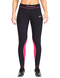 Smilodox Damen Kompressionsleggings Leggings Neon Style