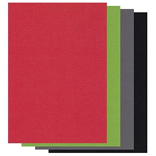 Confezione mista di carta pergamena colorata per natale, 20 fogli, formato a5