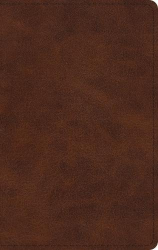 ESV Large Print Thinline Bible (Trutone, Deep Brown)