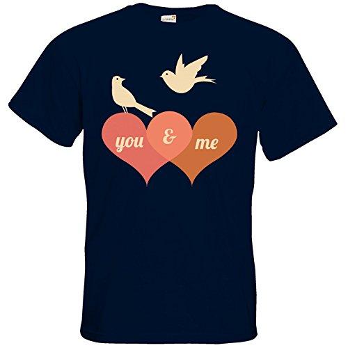 getshirts - RAHMENLOS® Geschenke - T-Shirt - Valentinstag Valentine - für dich und mich Navy