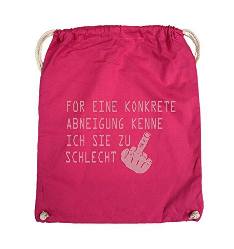 Comedy Bags - FÜR EINE KONKRETE ABNEIGUNG - FUCK FINGER - Turnbeutel - 37x46cm - Farbe: Schwarz / Pink Pink / Rosa