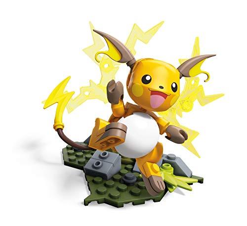 Mega Construx GDW30 - Construx Pokemon Raichu, Spielzeug ab 6 Jahren