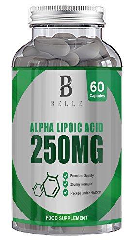 250 Mg Flasche (Belle® Alpha Lipoic Acid 250 mg - ALA Ergänzung - Unterstützt die Sehkraft und Nervenfunktion - 60 Antioxidans Kapseln)