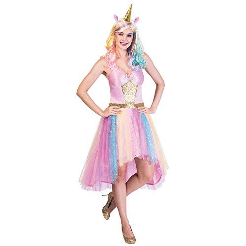 Einhorn Kostüm Damen Kleid - Mystisches Einhorn - Einhorn Kostüm Damen