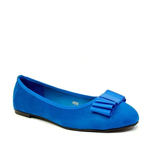 EnvyLondon - Balletto donna Blue Suede