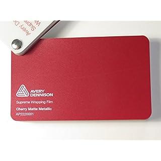 Avery Supreme Wrapping Film Serie Kirsch Rot Matt Metallic gegossene Autofolie 200 x 152 cm Zuschnitt