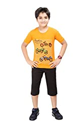 Boys Sporty T-Shirt & Capri Night Wear By Red Ring