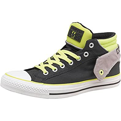 Mens Converse CT All Star Padded Collar Layer Mid Black/Yellow Guys Gents (9.5 UK 9.5 EUR 43)