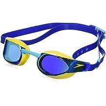 Speedo Fastskin Elite Mirror Gafas de Natación, Unisex Niños, Amarillo (Empire Yellow / Blue), Talla Única