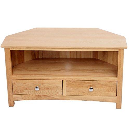 MuRong Solid Oak Corner TV Stand...