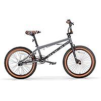 "MBM BMX U-N+O, Bici da Freestyle Unisex Bambini, Grigio A09, 20"""