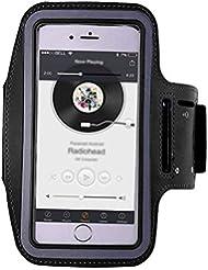 XYQY Banda para el Brazo para Correr Cajas de Banda para el Brazo de Montar Bolsa de Mano Resistente a la Suciedad Bolsa para teléfono móvil Titular Funda para cinturónNegro