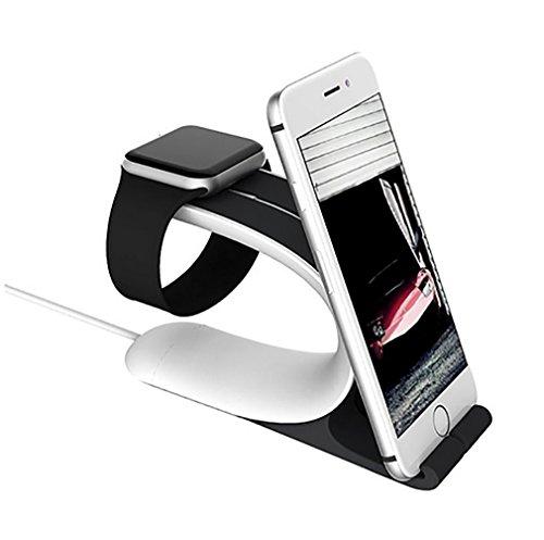 Lbsel Support De TéLéPhone, Support De Berceau De Support De Support De Support De Montre D'Apple Watch pour La SéRie D'Iwatch 3 2 1 (38mm Et 42mm), Iphone, Ipad, Smartphone Et CompriméS