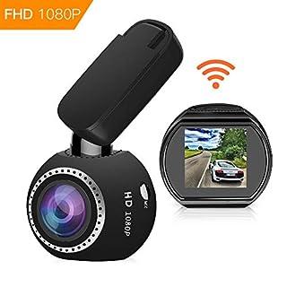 Auto Kamera WiFi DashCam 1080P Full HD Armaturenbrett Kamera Mini Magnetische Auto DVR Rekorder mit G-Sensor Nachtsicht Loop Aufnahme Bewegungserkennung