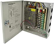 12v 15a power adaptor 9ch metal case power supply box for CCTV camera system