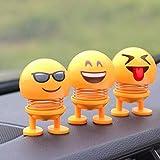Emoji Schütteln Kopf Puppen Lustige Auto Ornamente Neuheit Schütteln Kopf Frühling Tanzen Puppe Spielzeug Auto Innendekoration Zubehör Für Auto Armaturenbrett Startseite Desktop Dekoration Kinder
